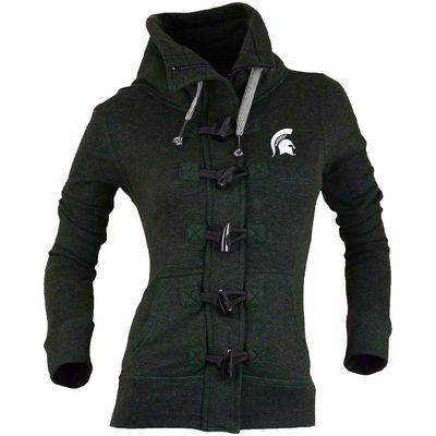 Michigan State Spartans Renu Women's Nantucket Toggle Zip Jacket - Green