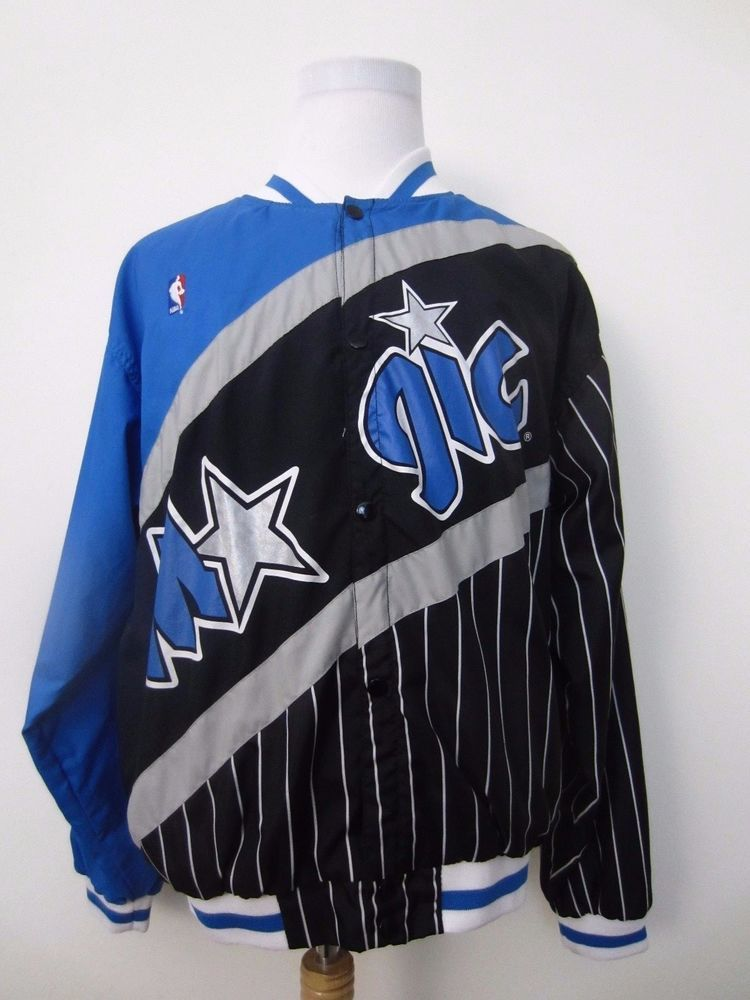 huge discount 351a3 72633 Vintage 90 s Champion Orlando Magic Warmup Jacket NBA Snaps Men s Size L   Champion  OrlandoMagic