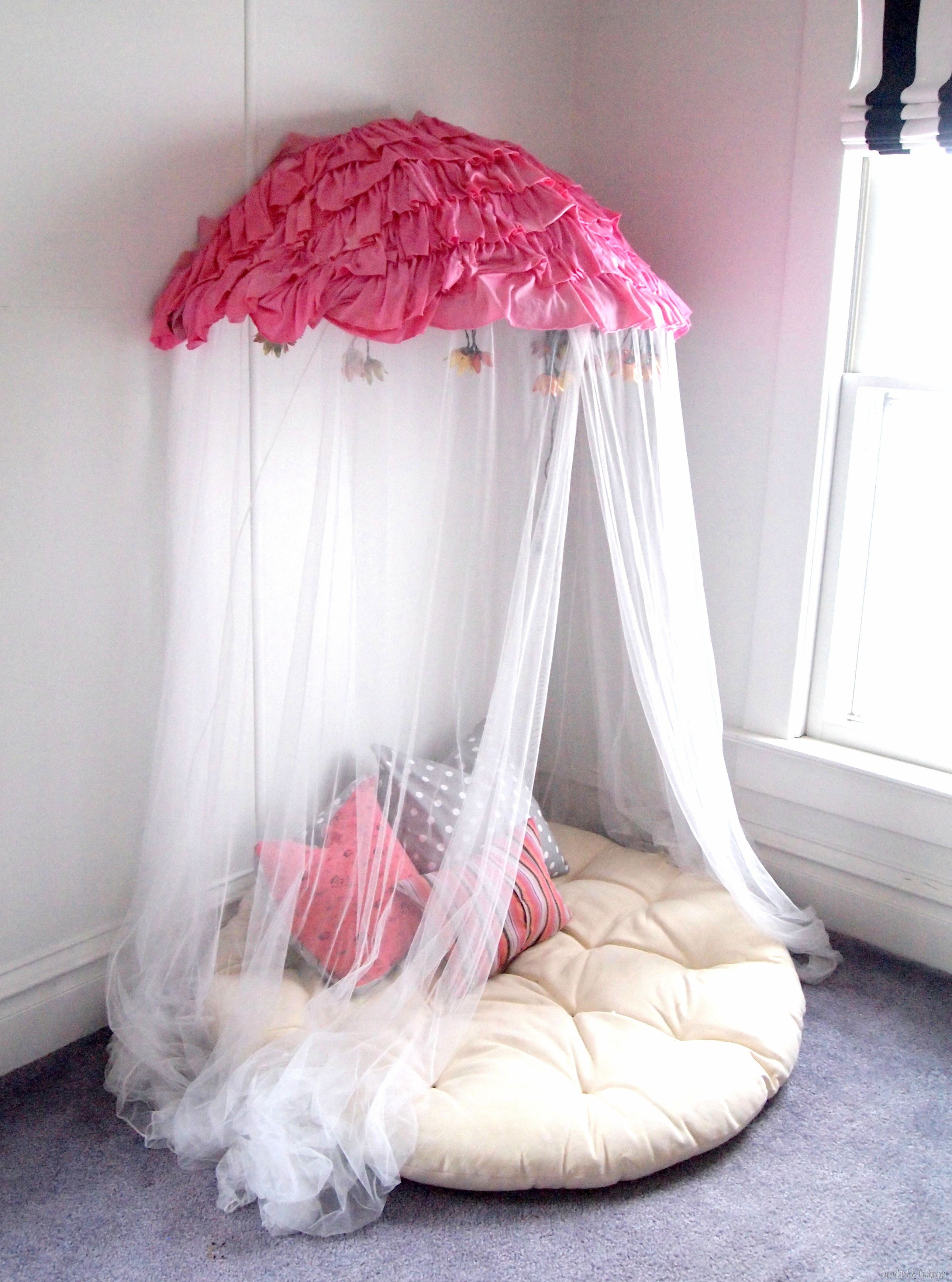 How to make a bed canopy for girls - Children S Canopy Using A Papasan Chair Frame Sawdust And Embryos