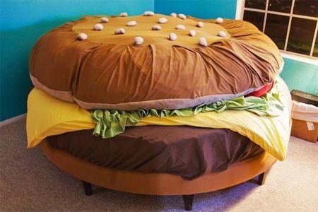 Hamburger bed. 'Nuf said.