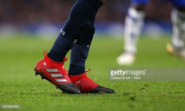 16eddb548f82 The Adidas Ace 17 boots of Dele Alli of Tottenham Hotspur during the ...