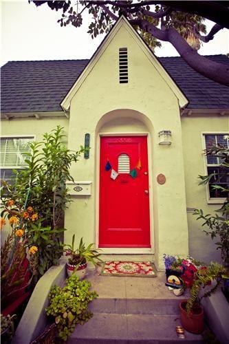 Red Doorgood Luck Notice The Funky Door Mat And The Unusual