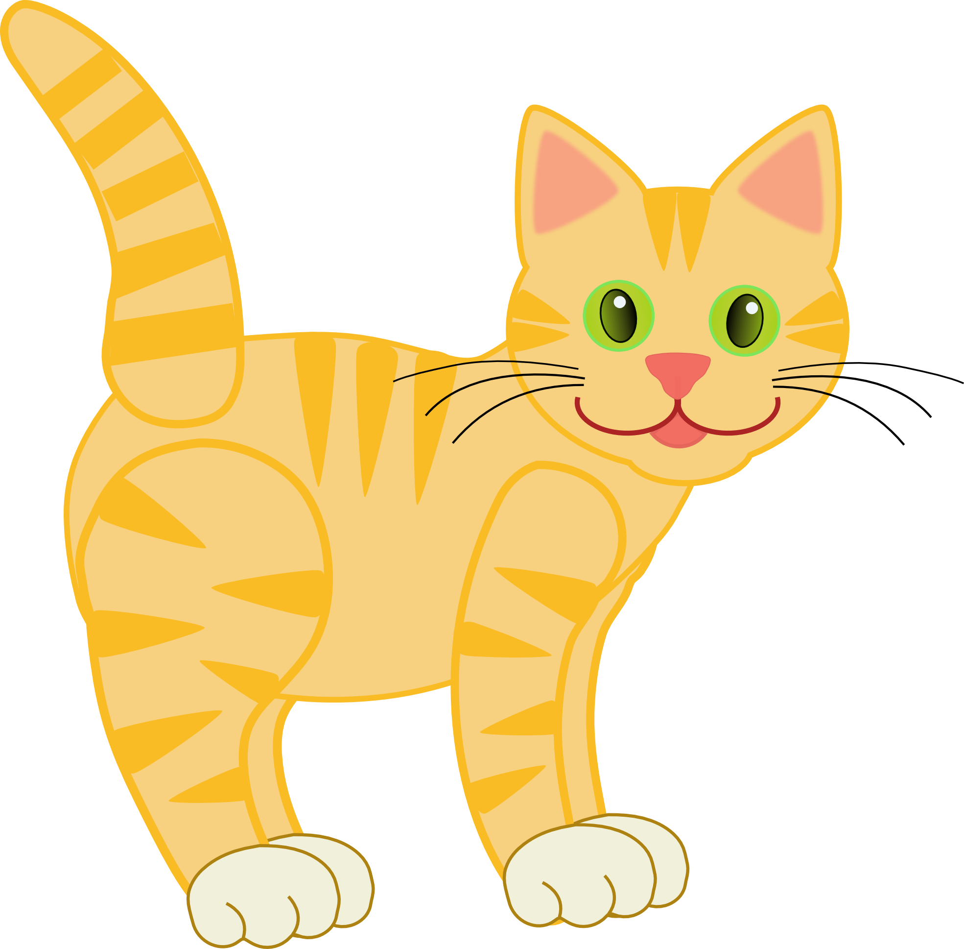 clip art version2 yellow tiger