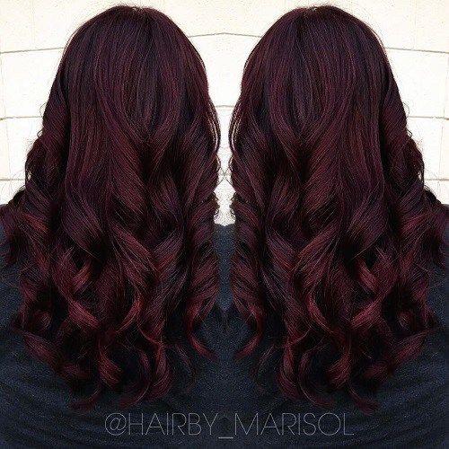 It's All the Rage: Mahogany Hair Color | Dark burgundy ...