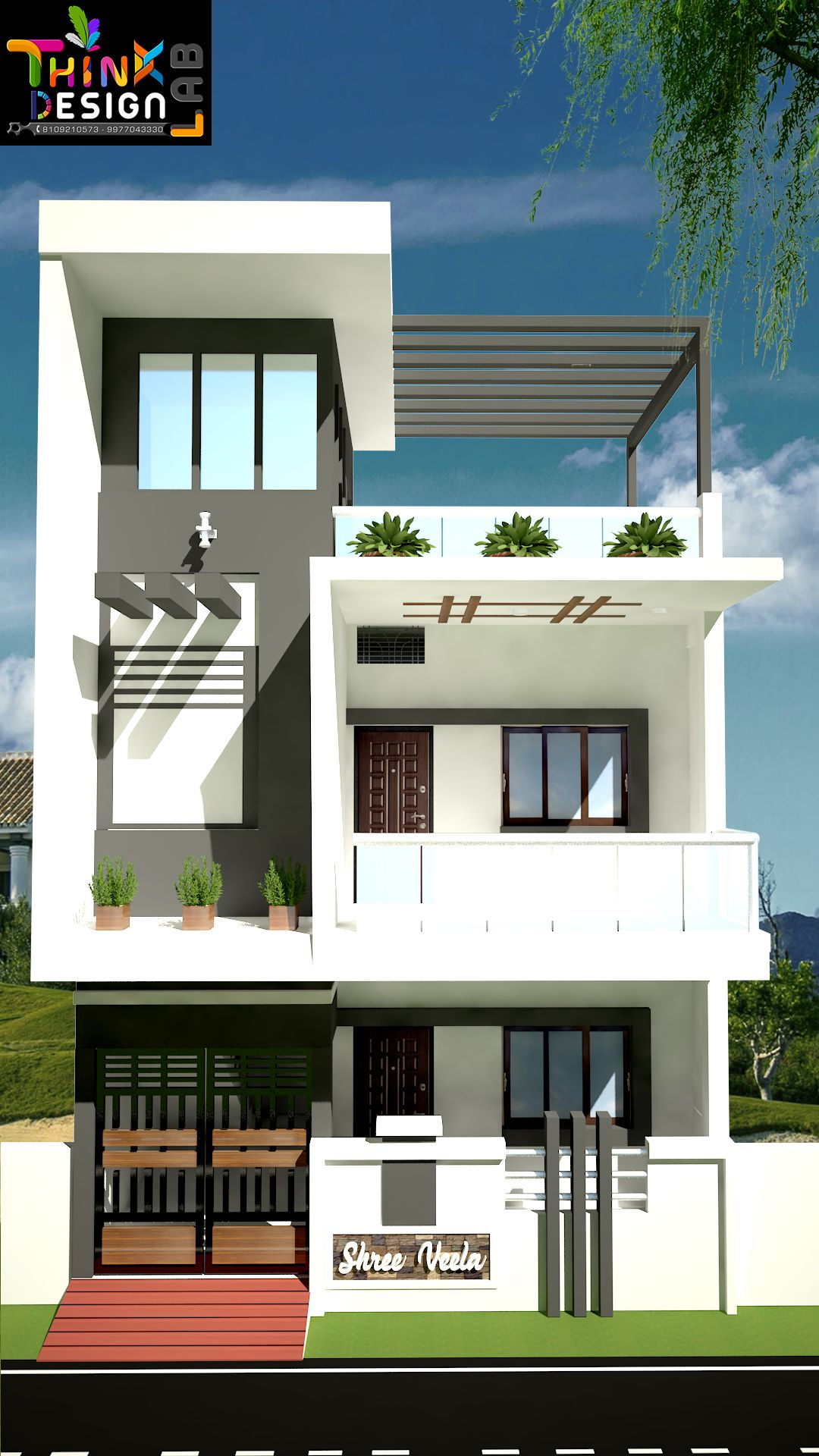 Pin By Think Design Lab On House Plans House Front