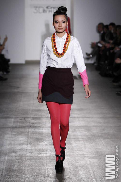 Samantha Pleet RTW Fall 2012    Gen Art . Eco-Friendly Fabrics
