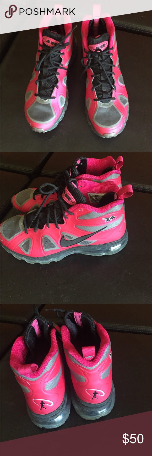 7dd42a6ade6c Ken Griffey Jr  hightop  pink  comfortable  baseball  girls7 Nike Shoes  Athletic Shoes