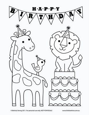 Colouring Pages H Y Birthday : Color pages from we love to illustrate for children the