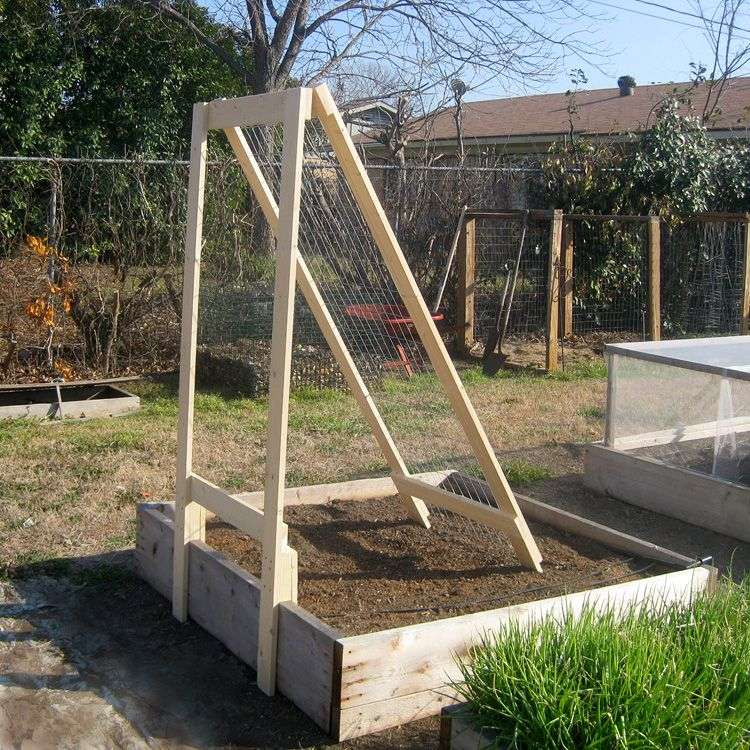 Diy A Frame Veggie Trellis 2 Vegetable Gardener Diy 640 x 480