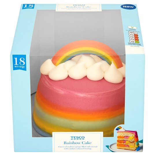Tesco Rainbow Cake Tesco Groceries Airlies 3rd Birthday Tesco