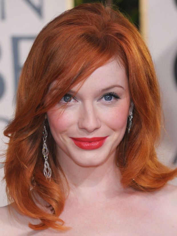 Christina Hendricks Before And After Round Face Haircuts Hairstyles For Round Faces Long Hair Styles