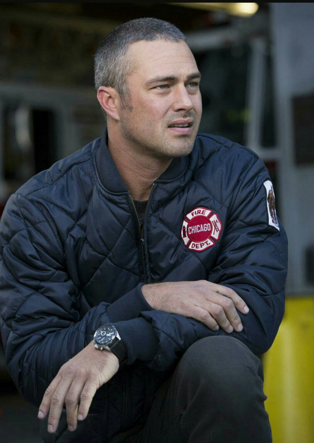 Taylor Kinney as Kelly Severide. I can't not love him ...