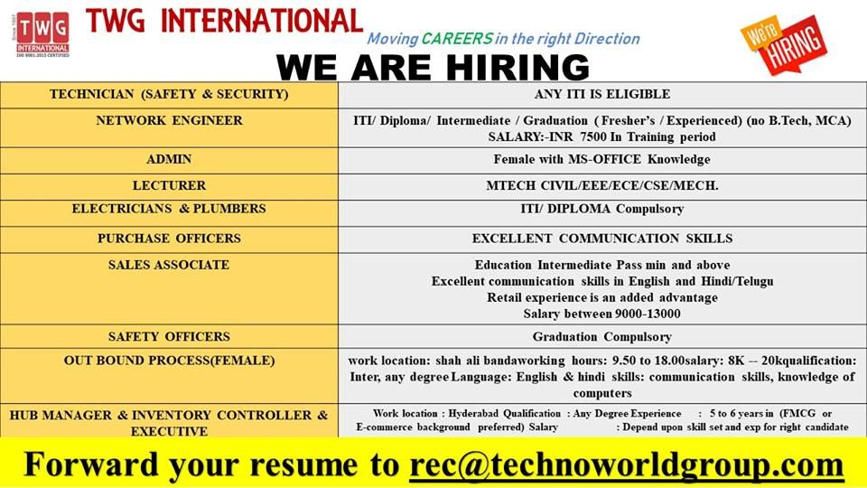 TWGINTERNATIONAL Moving CAREERS in the rightDirection