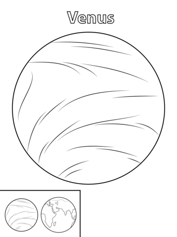 Venus Planet Coloring Page From Planets Category Select From 26388 Printable Crafts Of Cartoons Natu Planet Coloring Pages Planet Colors Space Coloring Pages
