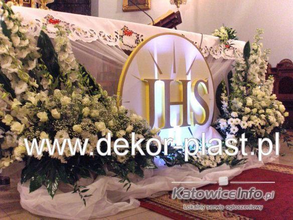 Komunia Church Flower Arrangements Altar Flowers Church Flowers
