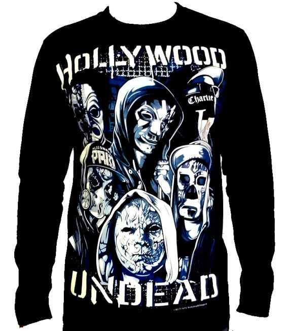 442f284cca1 HOLLYWOOD UNDEAD Long Sleeve T Shirt Size M L by TheRockShirts
