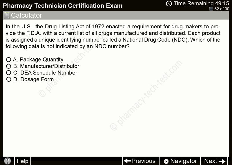 Free pharmacy technician practice tests. Study for the national exam ...