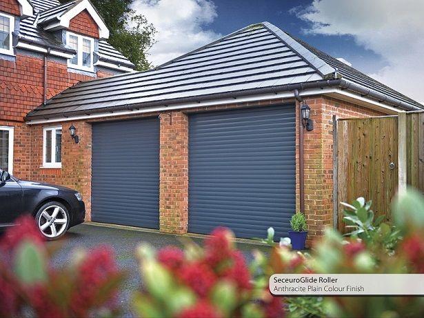 Insulated Roller Garage Door In Anthracite Grey Garage Doors
