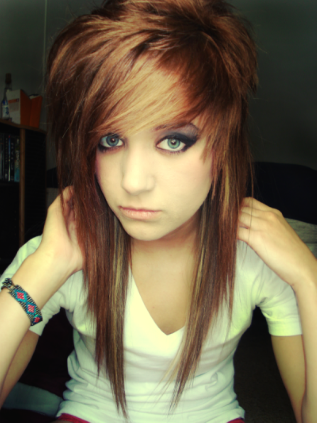 Emo Hairstyles For Girls hair Pinterest Hair Hair styles and