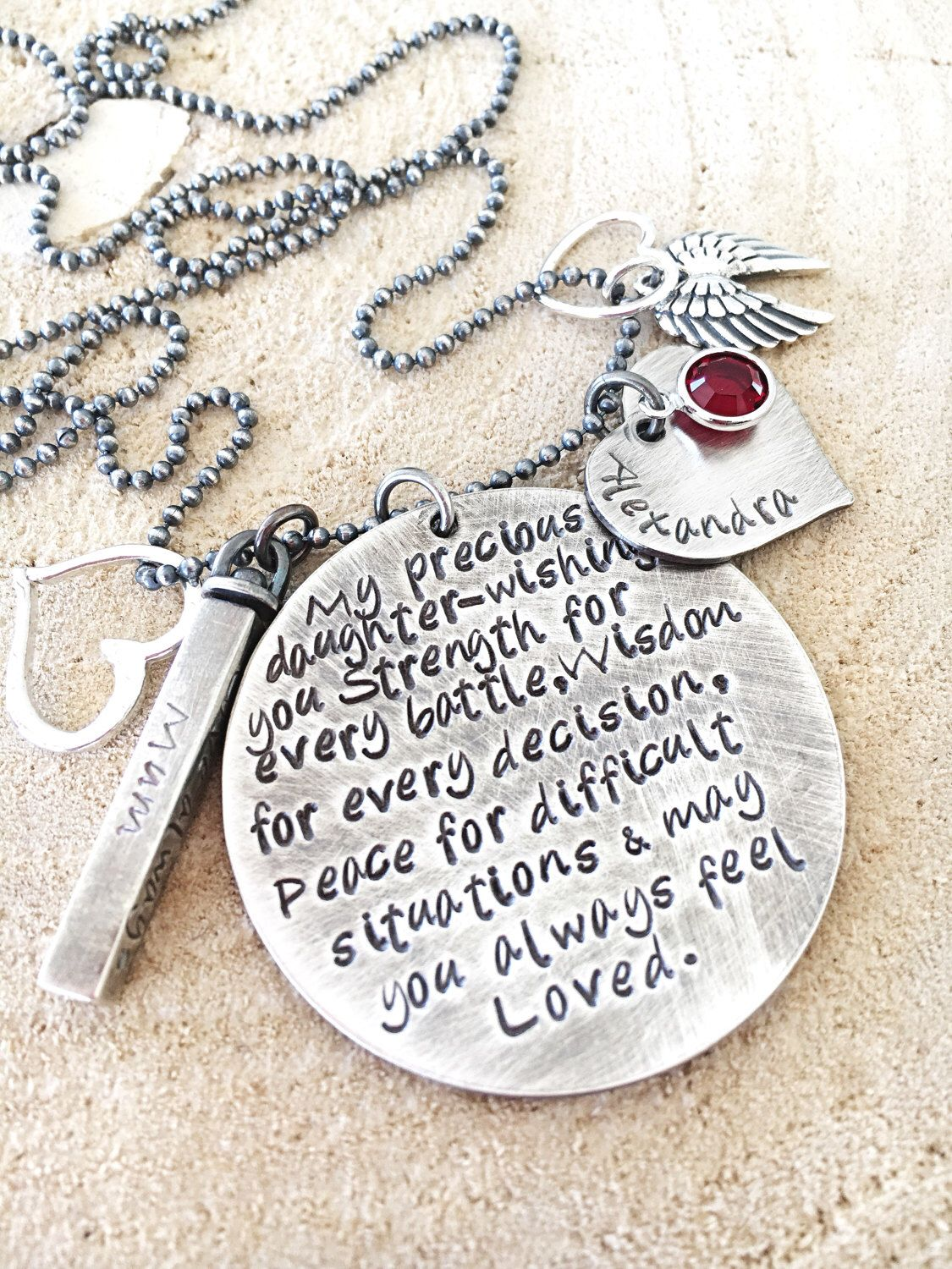 daughter necklace graduation gift charm necklace quote necklace