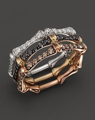 Black Diamond Stackable Bamboo Ring In 14k Yellow Gold 30 Ct T W Jewelry Accessories Fine Jewelry Rings Bloomingdale S Beautiful Jewelry Jewelry Diamond