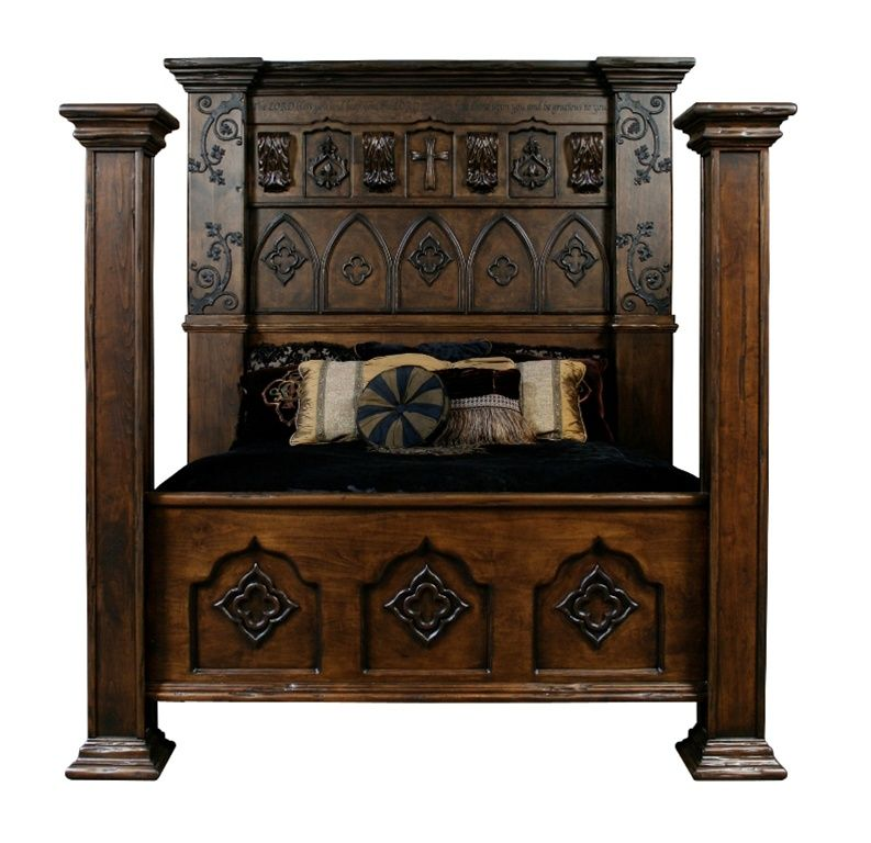Custom Made Gothic High Style Bed High End Bedroom Set Medieval Furniture Gothic Bedroom Furniture Gothic Bed