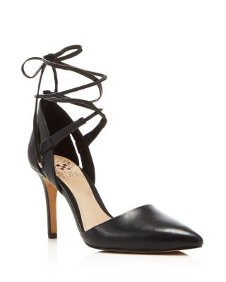 VINCE CAMUTO Bellamy Leather Pointed Toe Lace Up Pumps | Bloomingdale's