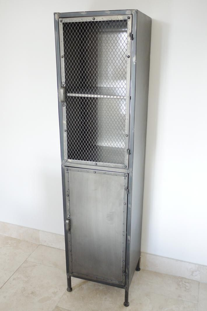Tall Industrial Metal Display Cabinet Locker Storage Industrial