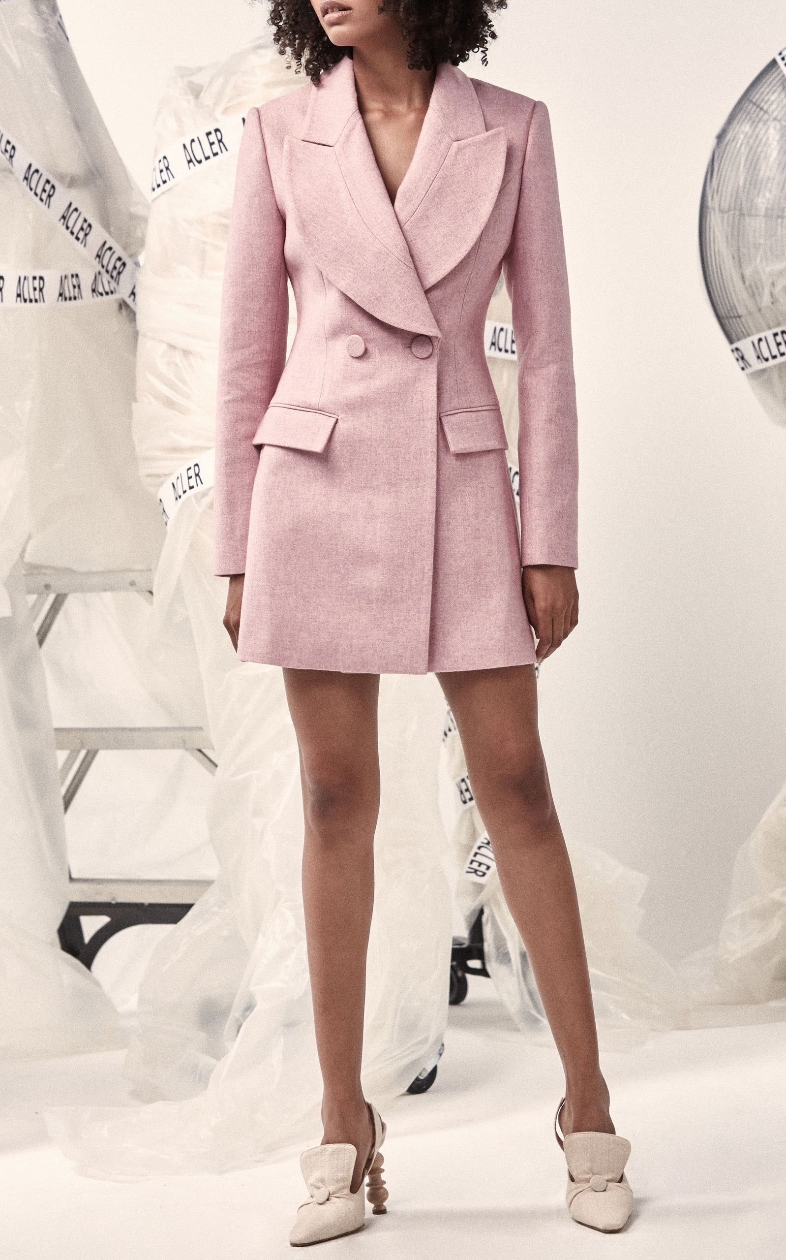 0f02031a58b0 Cunningham Double Breasted Wool Blazer by ACLER Now Available on Moda  Operandi