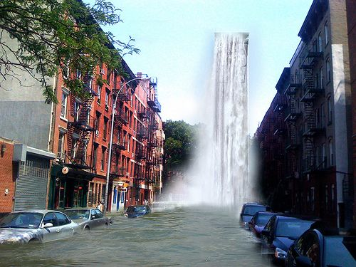 Sophie's NYC East Village Waterfall by jebb, via Flickr