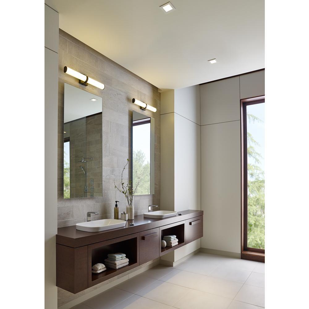 Lbl Lighting Lynk 36 36 Watt Satin Nickel Integrated Led Bath Light Ba913oyscled930 Light Fixtures Bathroom Vanity Modern Bathroom Contemporary Bathroom Vanity
