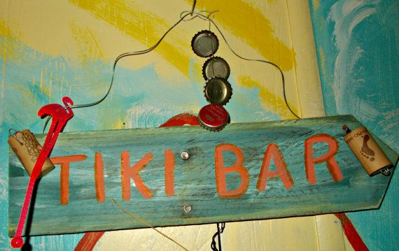 Tiki Bar wood sign by TheJourneysGifts on Etsy