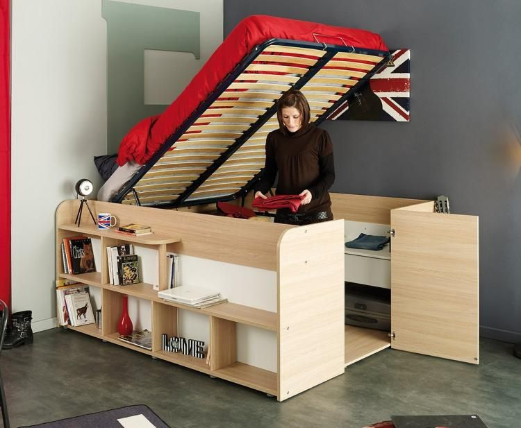 Parisot Space Up Bed A Bed That Doubles As A Closet Cabin Bed