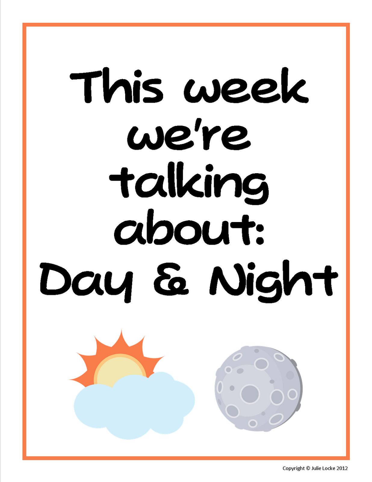 Learning About Day And Night In Preschool