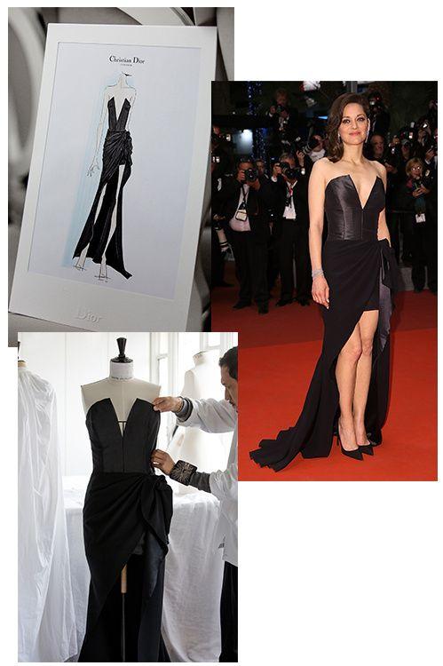 a69b1a92dcd Cannes 2016   la petite robe noire Dior de Marion Cotillard en 4 étapes de  fabrication