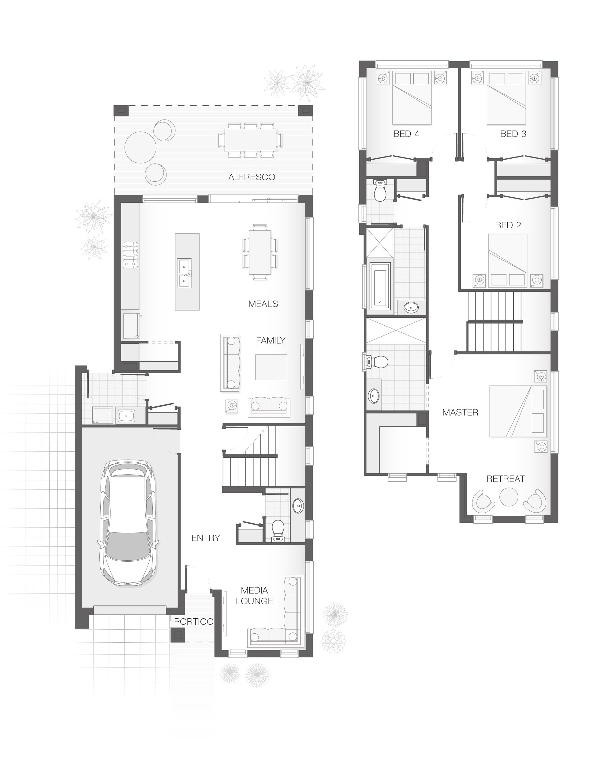 From 222 8m2 4 Bedrooms 2 5 Bathrooms 1 Car Garage