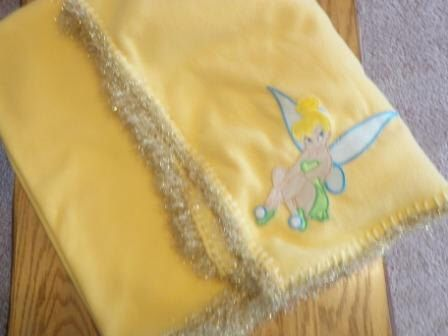 SALE Tinkerbell Fleece Baby Blanket by OlsenTrademarkCrafts on Etsy https://www.etsy.com/listing/101539782/sale-tinkerbell-fleece-baby-blanket