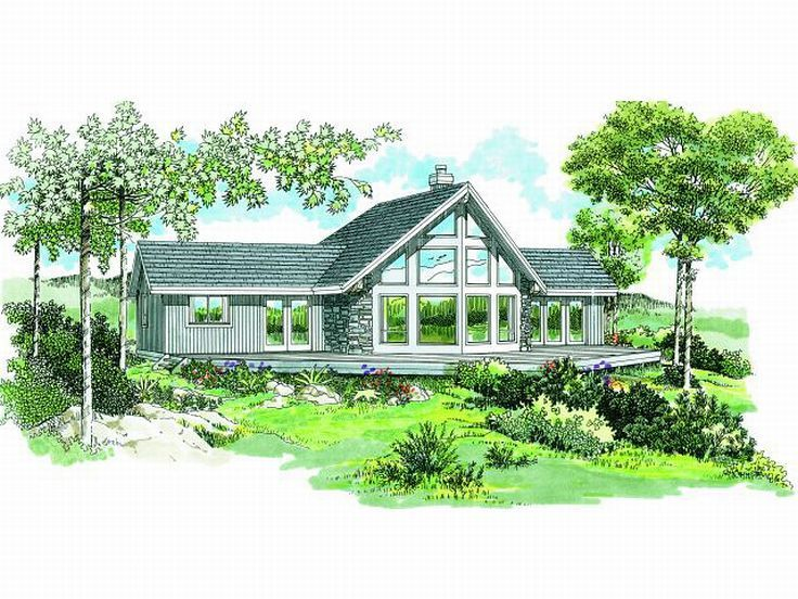 Waterfront Home Design 032h 0059 A Frame House Plans Contemporary House Plans Lake House Plans