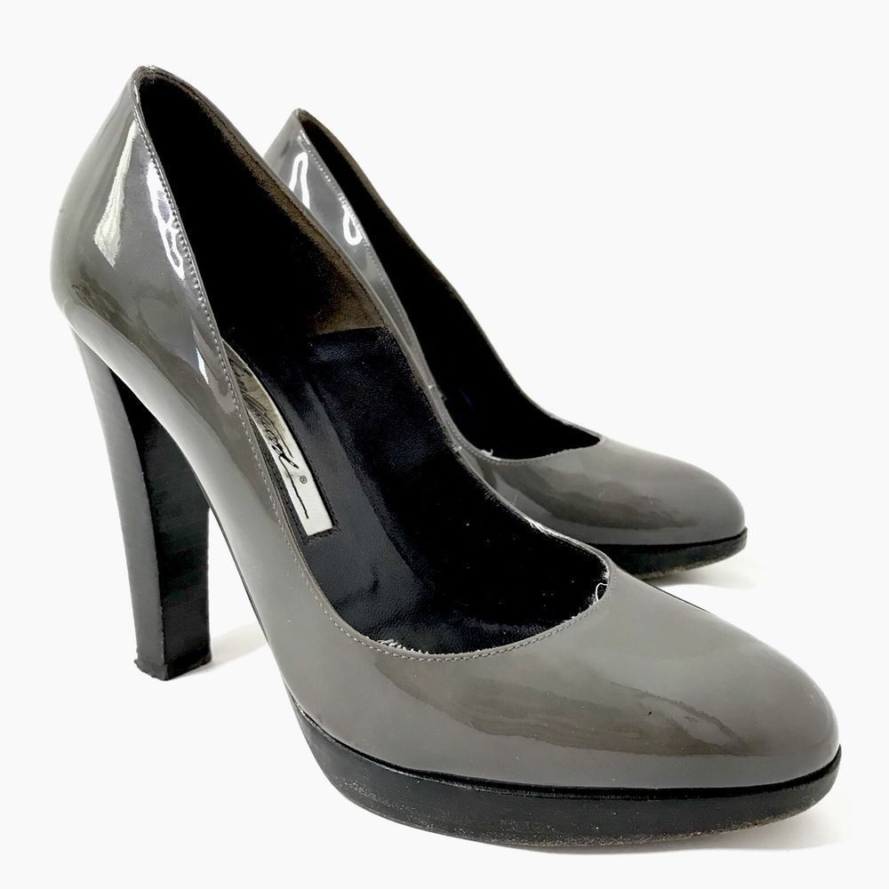 f3bb63f03b53 Brian Atwood Platform Heels Pumps Patent Leather Grey Women's 37 7 6.5  #fashion #clothing #shoes #accessories #womensshoes #heels #ad (ebay link)  # ...