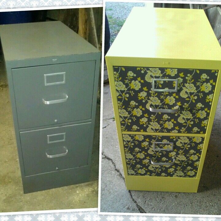easy filing cabinet makeover using spray paint and adhesive shelf liner 21 spray