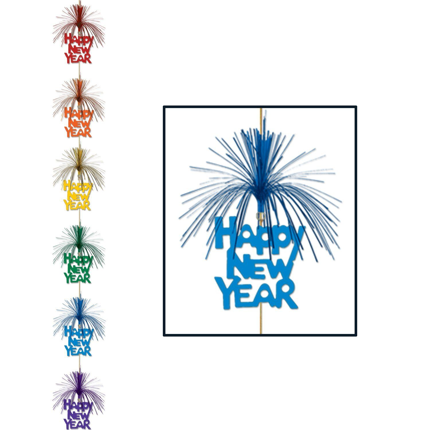 Happy New Year Firework Stringer, multicolor in 2020