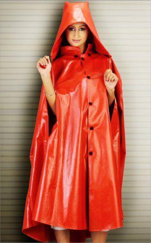 red hooded cape bayan yagmurluk. Black Bedroom Furniture Sets. Home Design Ideas