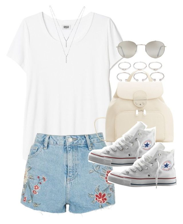 """Outfit for a casual summer day"" by ferned on Polyvore featuring Forever 21, Topshop, MANGO, Converse and BCBGeneration"