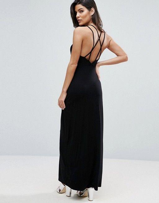 ASOS Maxi Dress with Strappy Back Detail | Asos kleid ...