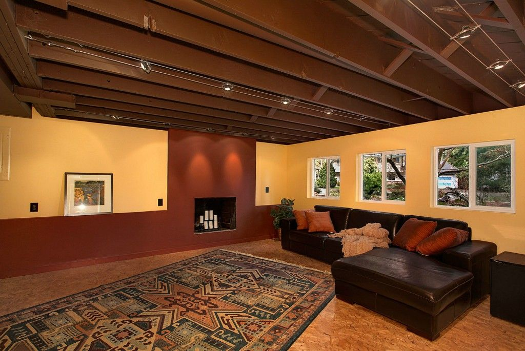 Unfinished Basement Ceiling Paint: Home Design Inspiration, Mostly From