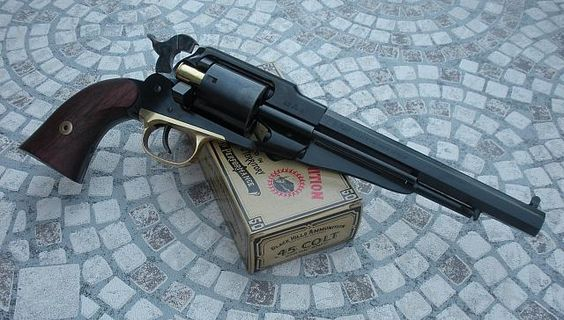 Remington 1858 New Model Army cartridge conversion: Find our speedloader now!  http://www.amazon.com/shops/raeind