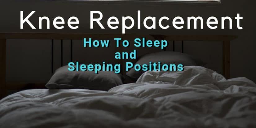 I'll share how I slept after knee replacement (TKR). I was