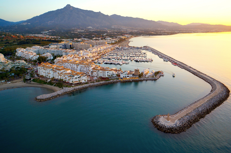 Puerto Ban S Drone Aerial Photography Marbella Costa Del