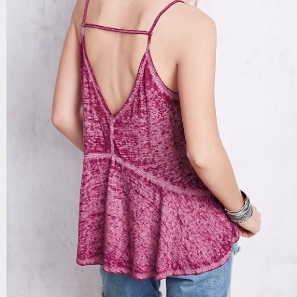 """Free People We the Free sunshine tank Sz M New without tags    Free People purple We The Free """"sunshine """" tank in purple. Originally $38. 24 inches length from shoulder to hem Free People Tops Tank Tops"""