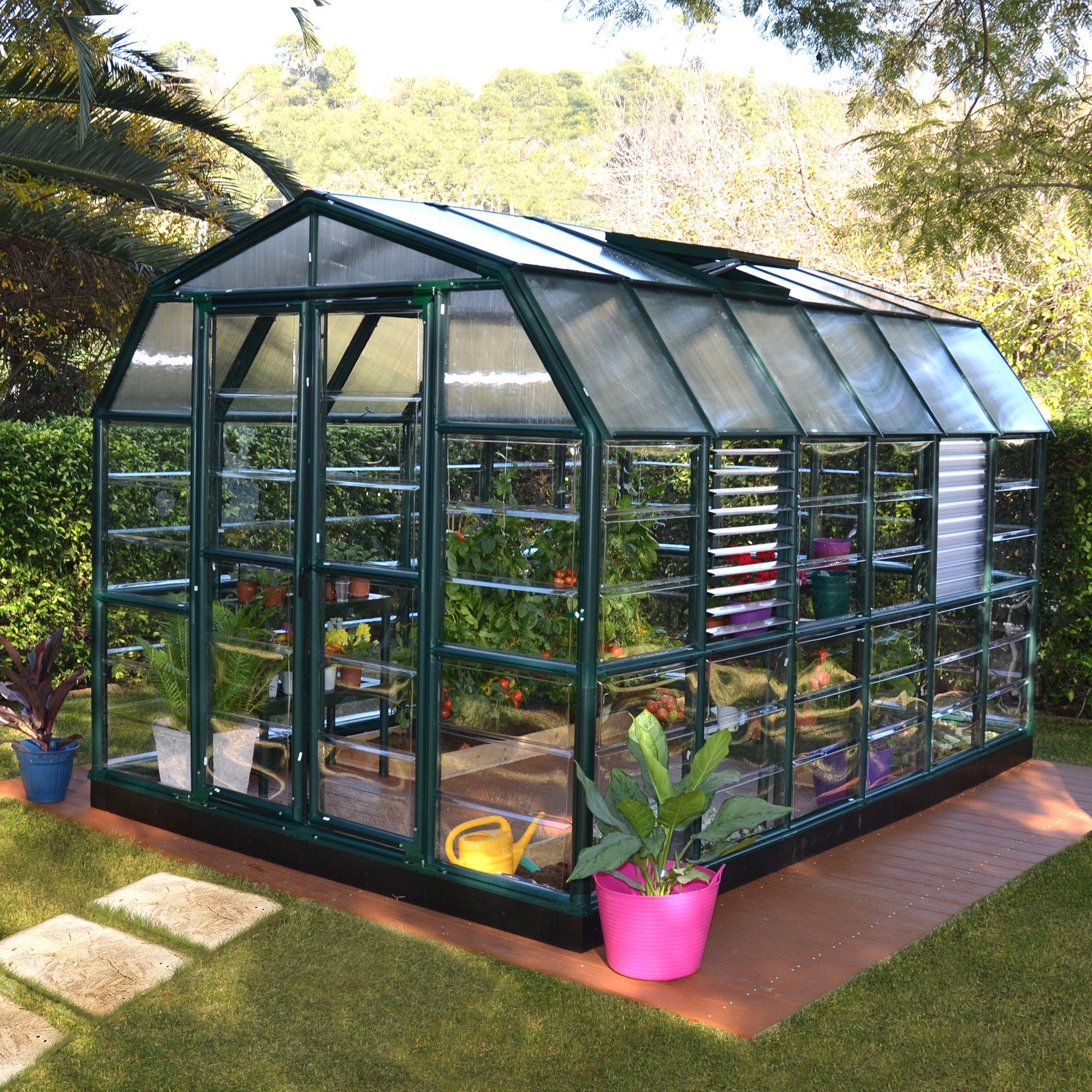 Rion Prestige 2 Clear 9 Ft W X 13 Ft D Polycarbonate Greenhouse